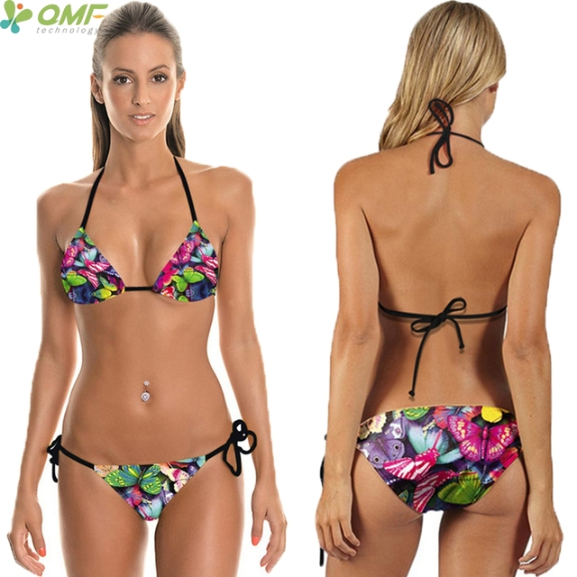 Aliexpress.com : Buy Colorful Butterfly Bikini Sets ...