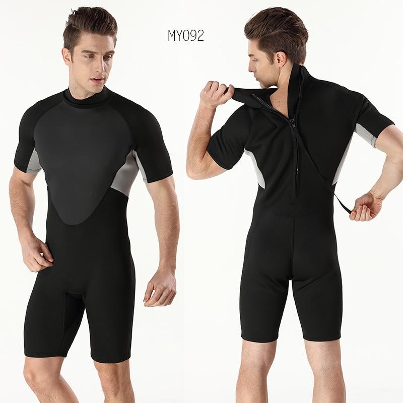 Néoprène 3mm hommes Anti froid chaud à manches courtes siamois Submersible Surf vêtements pour hommes taille S-XXL - 4