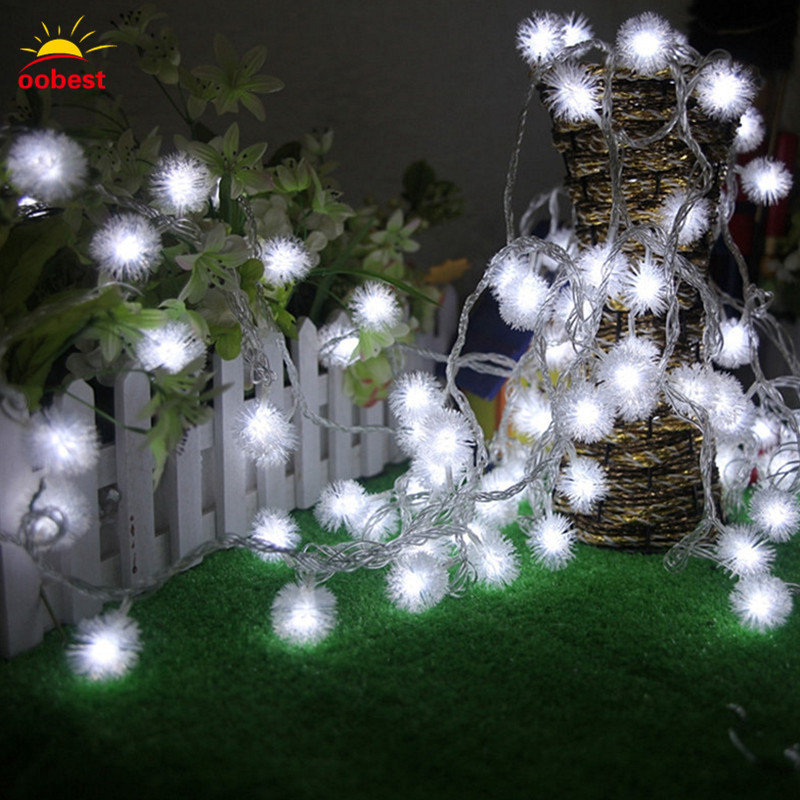 Oobest Chrismas 3/4M 30/40 LED Fairy String Lights Round Snowflake LED Lantern Light String Holiday Decoration