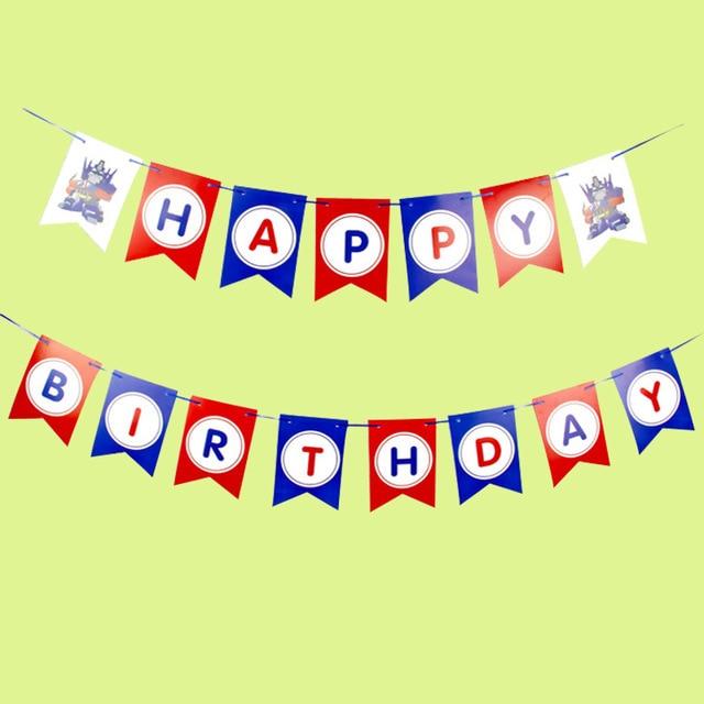 captain america transform happy birthday banner garland the