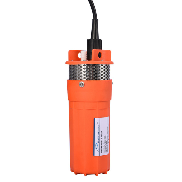 12V DC Submersible Pump 6.5L/min 1/2Inch Deep Well Water DC Pump Alternative Energy Solar Powered Submersible Pump
