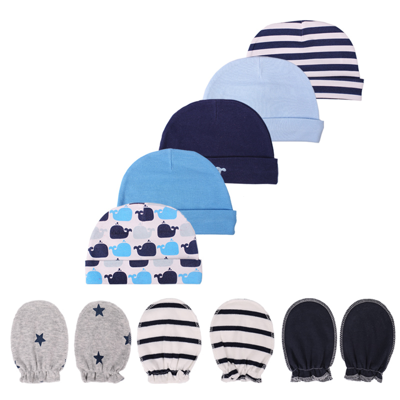 Obliging Newborn Baby Cute Gloves Anti-scratching 0-6months Cotton Top Quality Baby Hats And Mittens Keep Warm Baby Accessories Suit