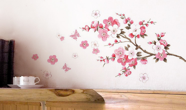 flowers butterfly christmas removable large wall shelf stickers princess home decoration diy wall art poster mirror
