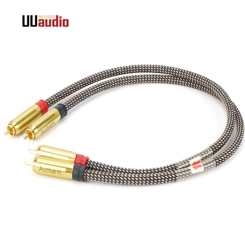 2pcs Pair High Quality Rca To Rca Diy Rca Cable Rca