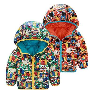 2016 Yeni Bebek Kış Parkas Çocuk Kabanlar Coat Çift taraflı Giyilebilir Aşağı Kapüşonlu çocuk Giyim Çocuk Giyimi
