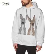 New Casual Cute Fawn & White Greyhound Sss Long Sleeve Casual 3D Print For Male