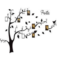 Black 3D DIY Photo Tree PVC Wall Decals/Adhesive Family Wall Stickers Mural Art Home Decor