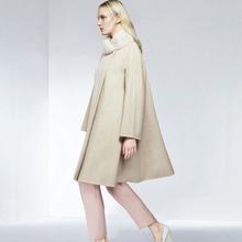 2016 European New Fashion Cape Shawl Overcoat Covered Button Batwing Sleeve Solid Color Female Cashmere Coat Woolen Outwear(China)