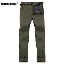 7XL Men s Winter Softshell Fleece Pants Outdoor Waterproof Hiking Camping Trekking Climbing Warm Male Sportswear