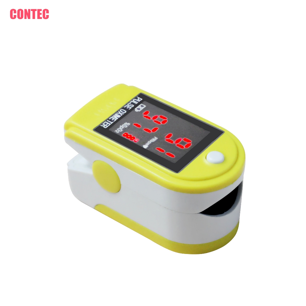 CONTEC CMS50DL CE FAD YELLOW FINGERTIP OXIMETER PULSE OX SpO2 COLOR OLED DISPLAY USA STO ...