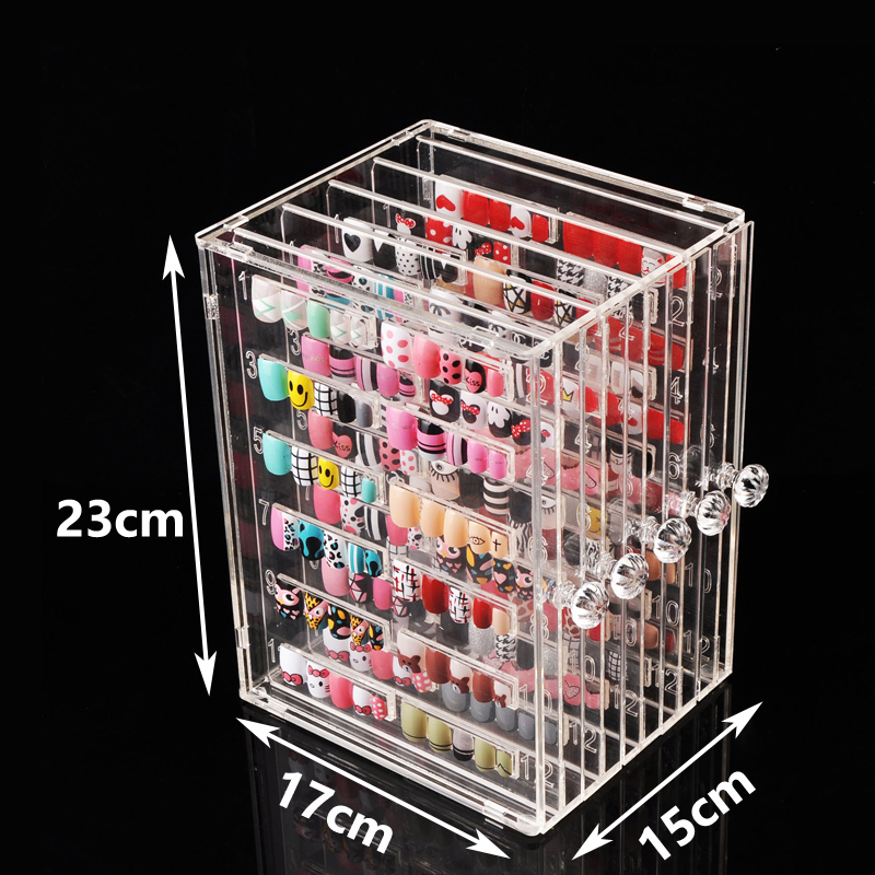 Professional Model Nail Gel Polish Color Display Box Book, Dedicated 300 Color Card Chart Painting Manicure Nail Art show Tools image