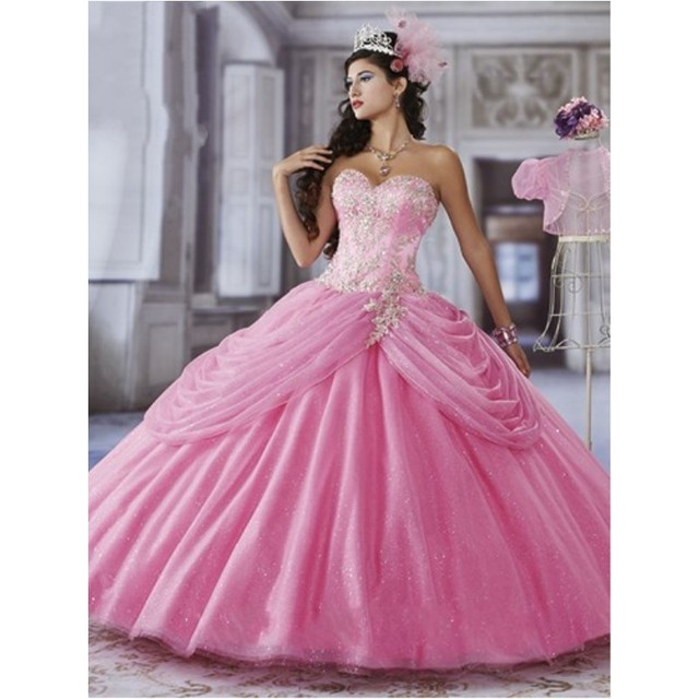 Magenta Embroidery Beaded Bodice Tulip Pannier Skirt Long Tulle ...