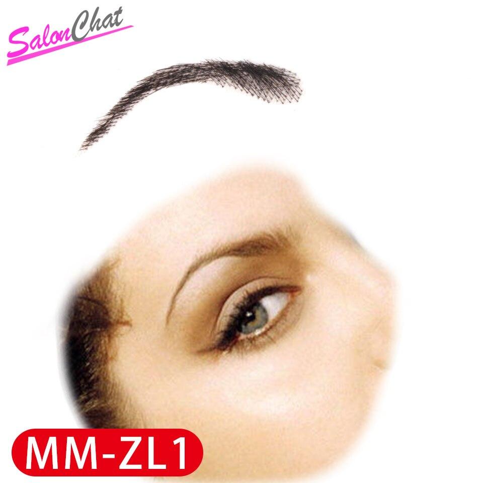 Mão amarrada falso laço sobrancelhas 100% cabelo humano sobrancelhas remy cabelo invisível artesanal falso sobrancelhas para mulheres/homem salonchat
