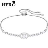 HERO Original Copy High Quality 1:1 SWA Demon Eye Plated Platinum Shrink Bracelet With Logo Envelope