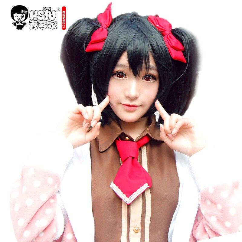 HSIU High Quality LoveLive! Love Live Cosplay Wig Nico Yazawa Costume Play Adult Wigs Halloween Anime Hair Free Shipping