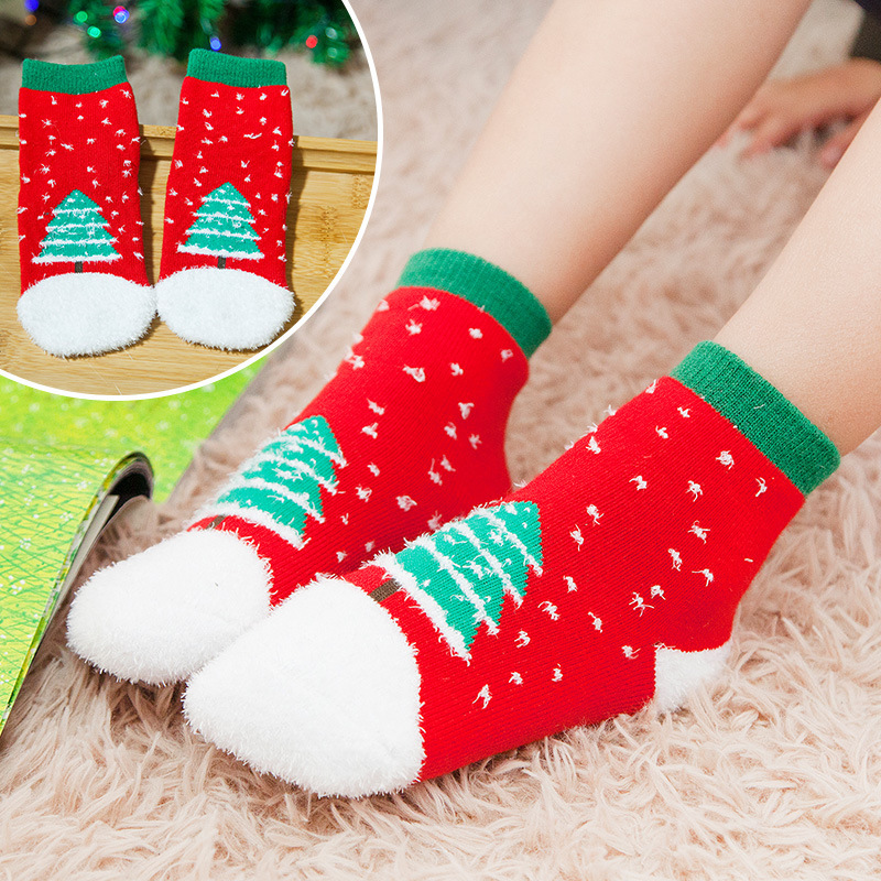 Winter Baby Socken Kinder Weihnachten Socken Kinder Warme Handtuch ...
