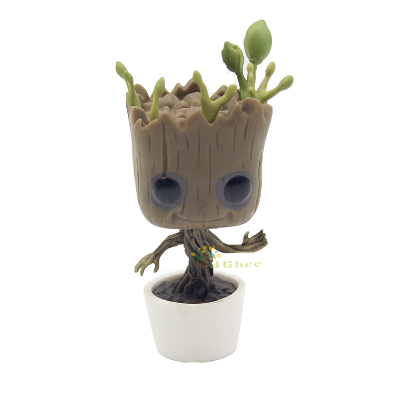 J Ghee POP Guardians of the Galaxy Cute Tree Man 65 Vinyl Bobble Head Car Decoration Figure Collectible Model Toy 10cm 2016 new arrival the guardians galaxy mini dancing tree man action figure model toy doll