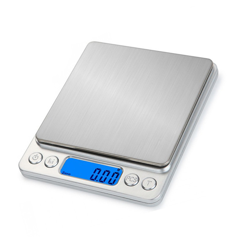 500g/1/2/3kg 0.01/0.1g LCD Digital Scales Mini Precision Grams Weight Weighing Scale Electronic Balance Scale For Tea Baking
