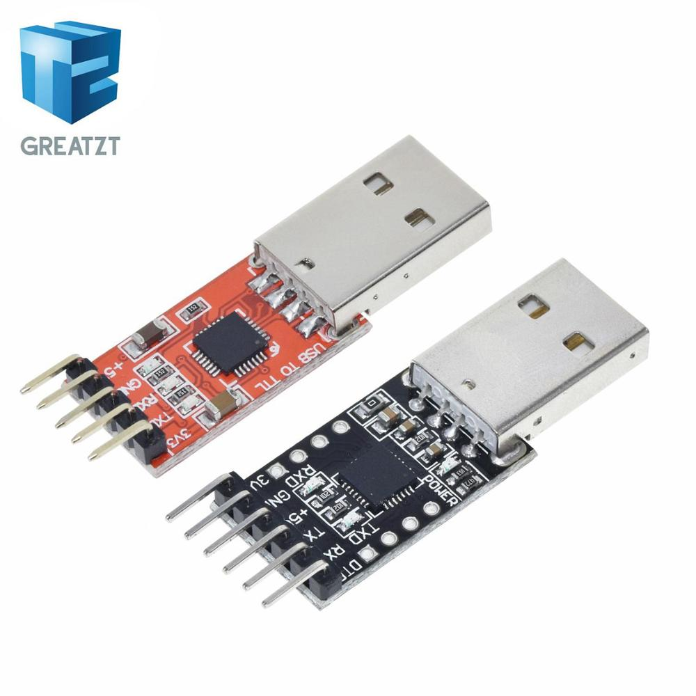 GREATZT 1Pcs 5PIN CP2102 USB 2.0 To TTL UART Module 6Pin Serial Converter STC Replace FT232 Adapter Module 3.3V/5V Power