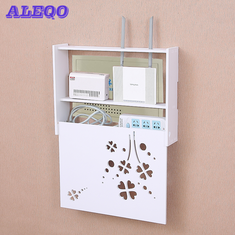 Wireless Wifi Router Box PVC Wand Regal Hängen Stecker Bord Halterung Lagerung Box 22 Stil image