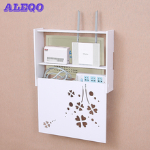 Беспроводная Wi-Fi коробка маршрутизатора ПВХ настенная полка подвесной разъем доска кронштейн ящик для хранения 22 стиля