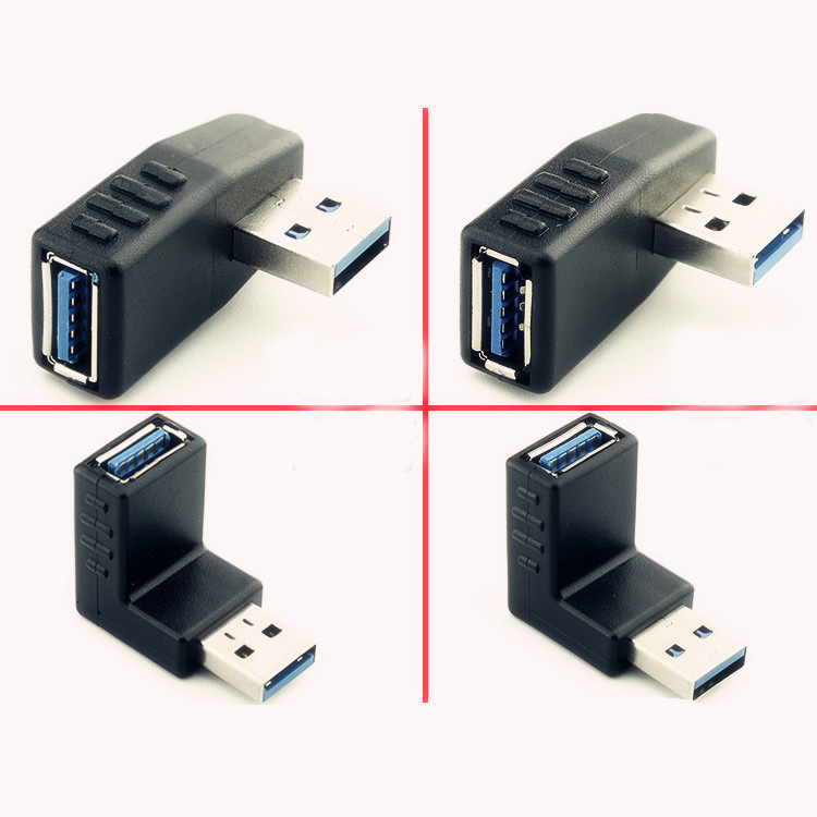 """USB 3.0 Adapter 90 Degree Male To Female Coupler Connector Plug Left Angle And /"""""""
