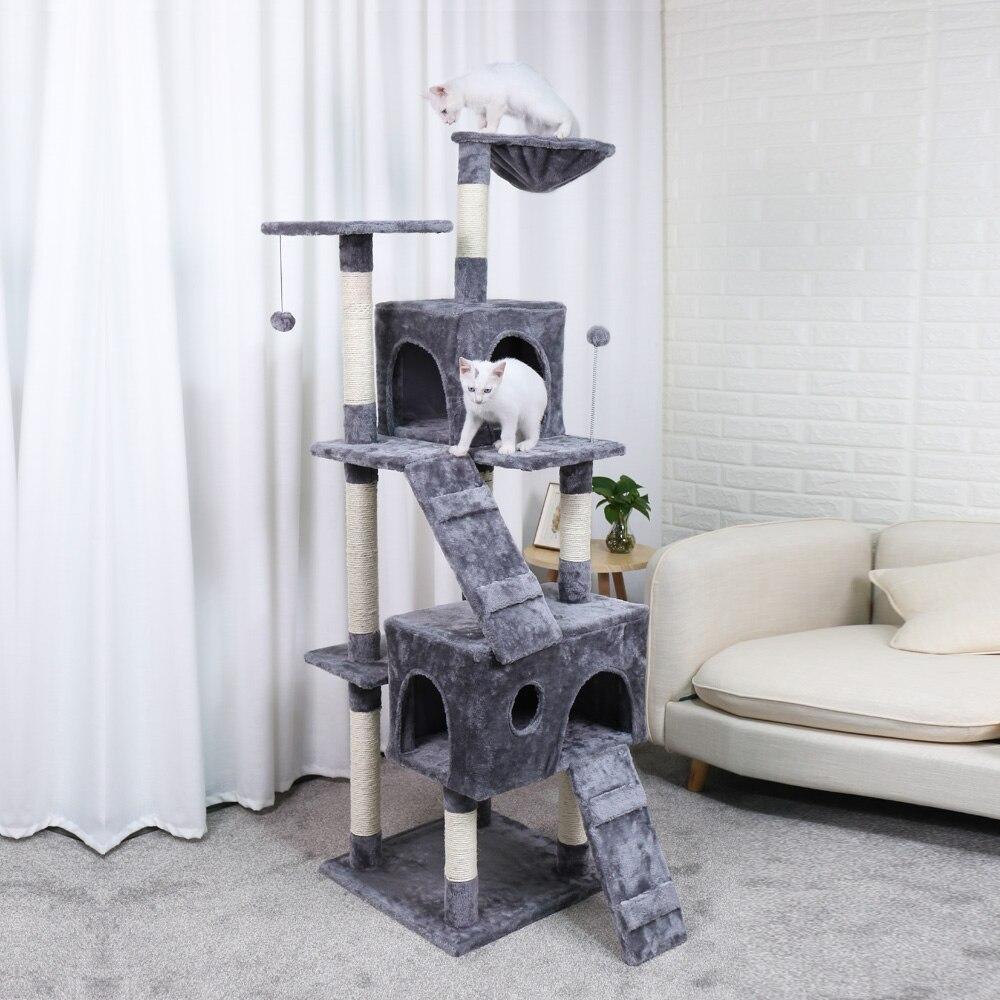 Новая кошка дерево домашняя Доставка Кошка восхождение рамка кошка мебель скребок Pet Tree House товары для животных котенок игрушки 2 цвета функ