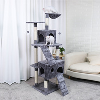 New Cat Tree Domestic Delivery Cat Climb Frame Cat Furniture Scratchers Pet Tree House Pet Supplies Kitten Toys 2 Color Function