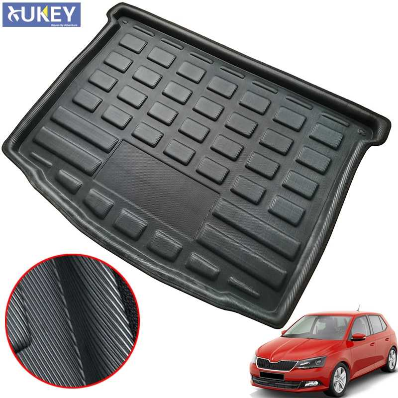 Fit For Skoda Fabia Hatchback 2015 2016 2017 2018 2019 Boot Liner Rear Trunk Mat Cargo Tray Floor Carpet Mud Kick Protector