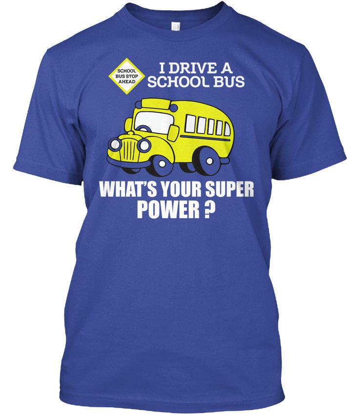 School Bus Driver Superpower Popular Tagless Tee T-Shirt