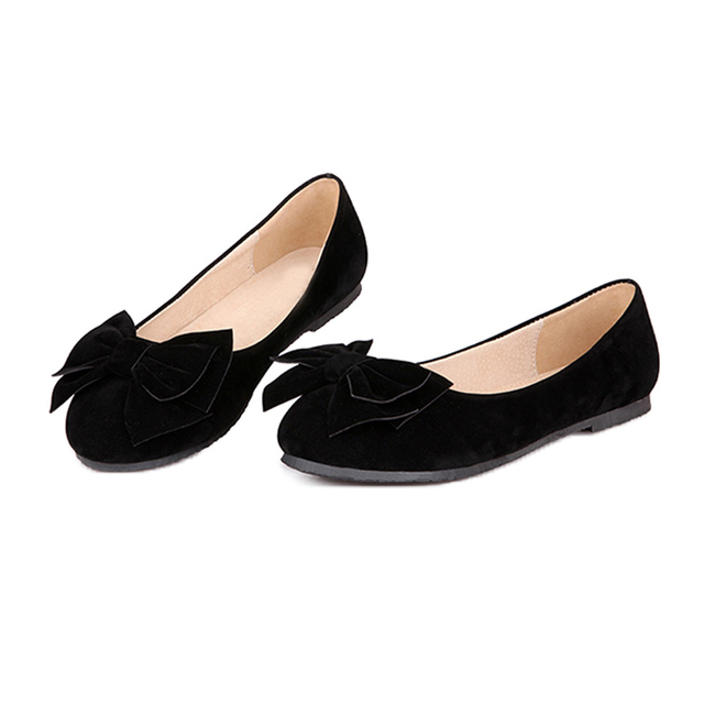 Women's Suede Bow-Tie Slip-On Flats