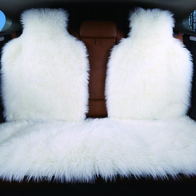 3pc la Parte Posteriore copertura di sede dellautomobile della pelliccia del faux 4 colori formato universale per tutti i tipi di sedili per auto lada priora per peugeot 406 per lada