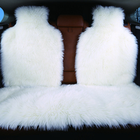 3pc the Rear car seat cover faux fur 4colours universal size for all types of seats for car lada priora for peugeot 406 for lada