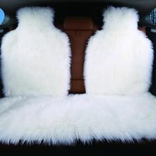 Housse de siège arrière, fausse fourrure, 4 couleurs, universelle pour tous les types de sièges, pour voiture lada priora, pour peugeot 406, lada, 3 pièces
