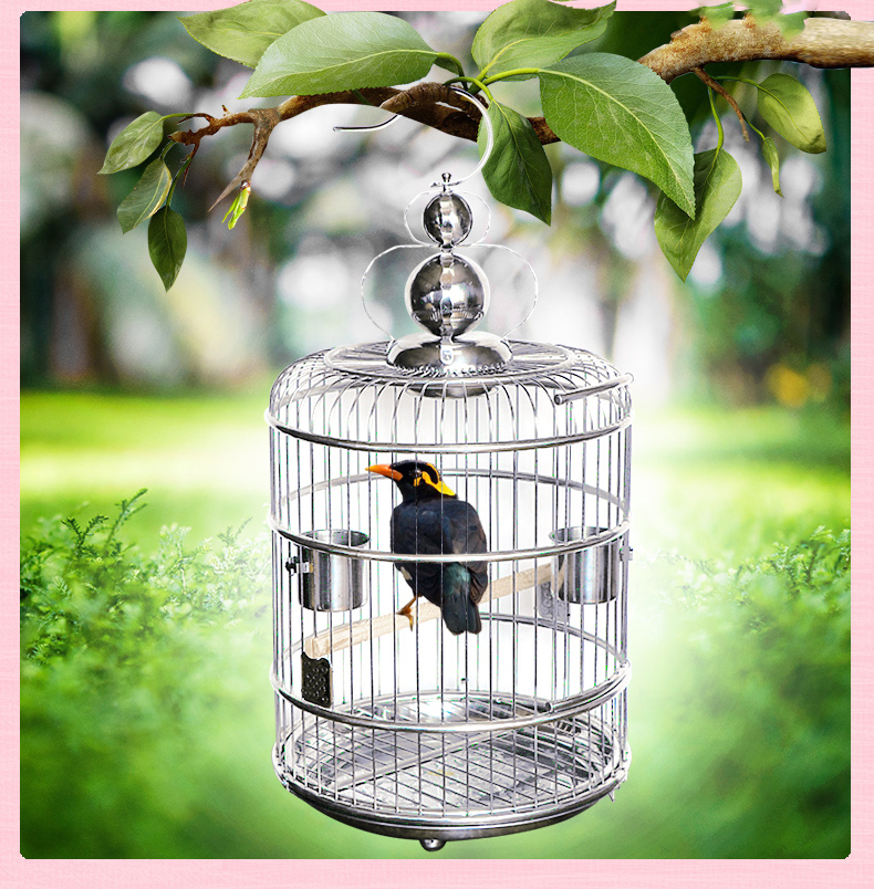 large vintage bird cage stainless steel creative bid nest home parrot small animal house. Black Bedroom Furniture Sets. Home Design Ideas
