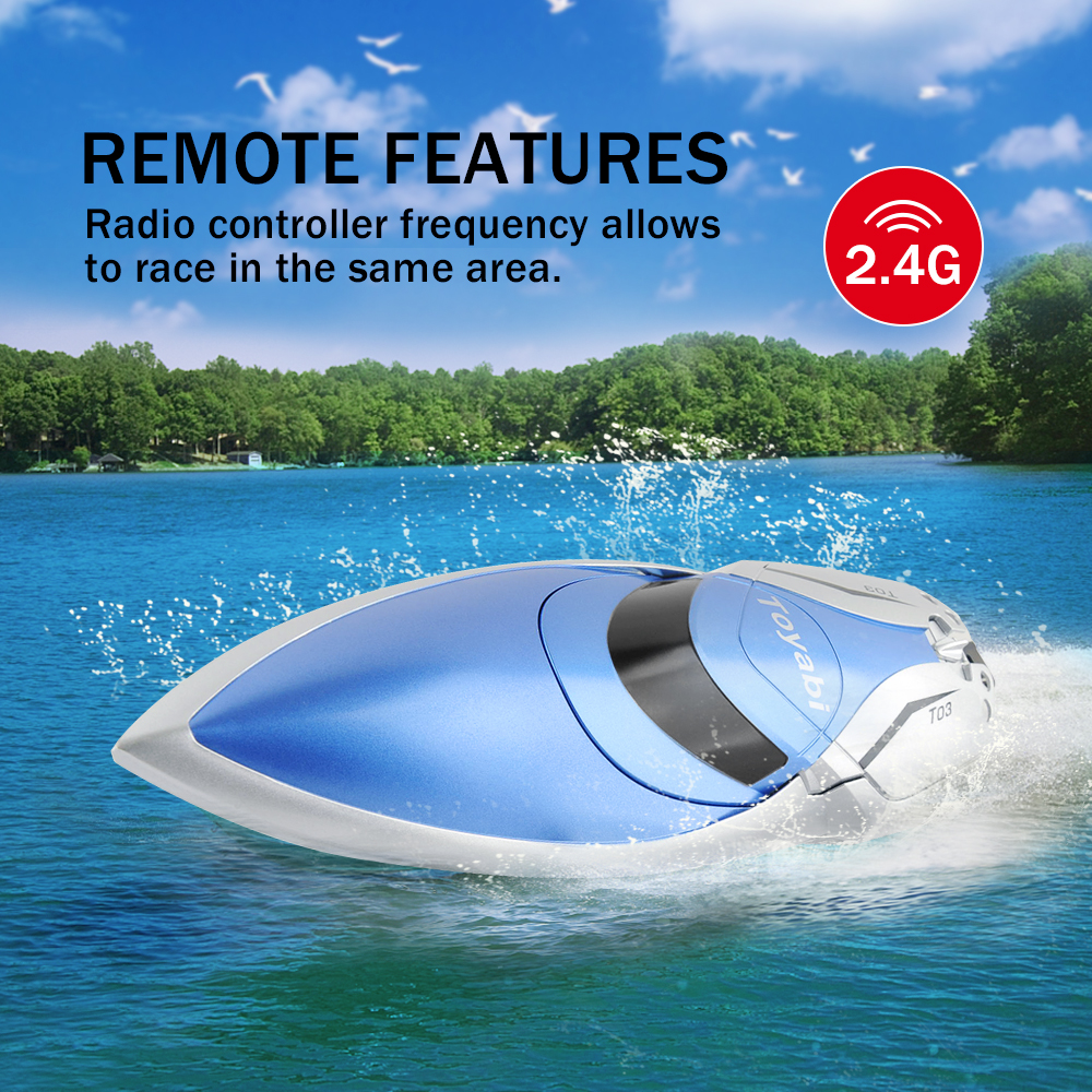 Image 4 - RC Boat 30km/h High Speed 2.4GHz 4 Channel Racing Remote Control Boat with LCD Screen as gift For children Toys Kids Xmas Gifts-in RC Boats from Toys & Hobbies