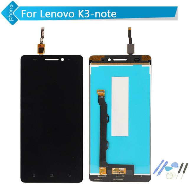 Para lenovo k3 note display lcd de toque digitador da tela para lenovo k50 assembléia + ferramentas frete grátis