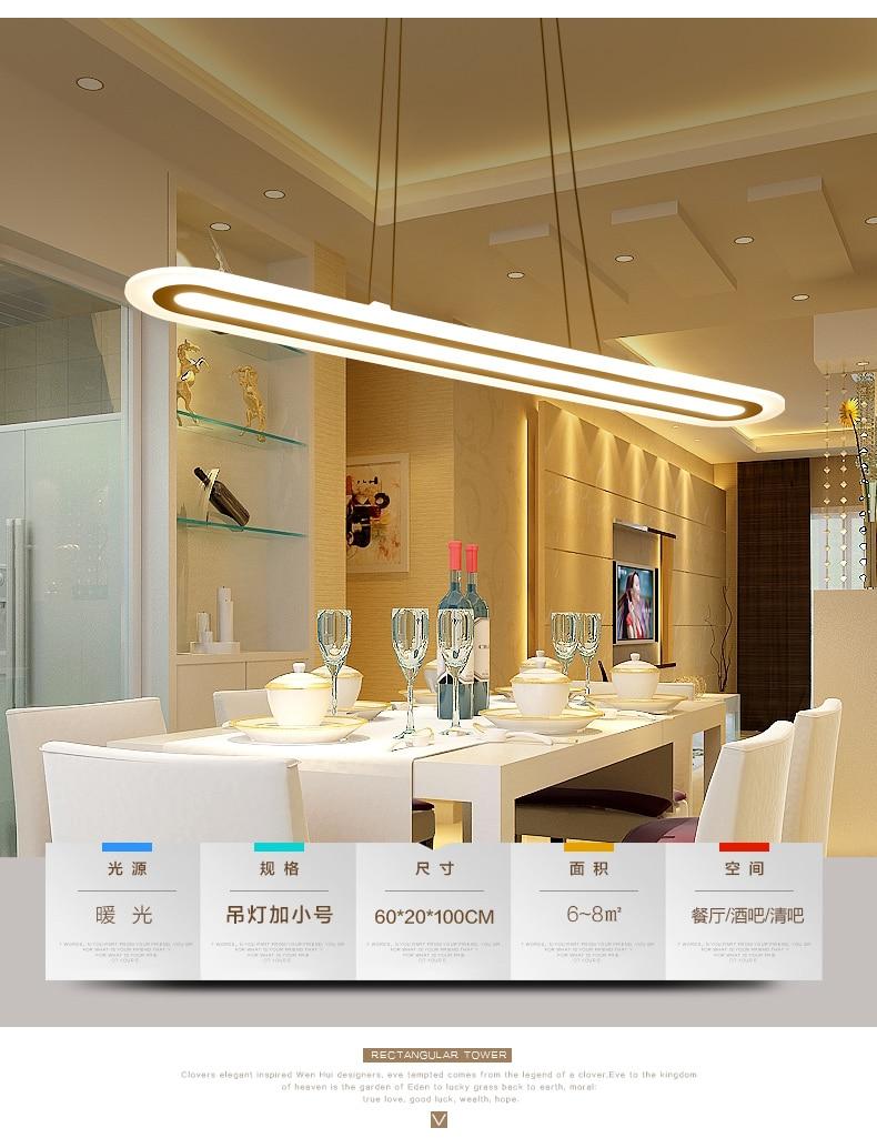 Plexiglás moderno Suspensión Colgante luces de Tira LED lámpara de ...