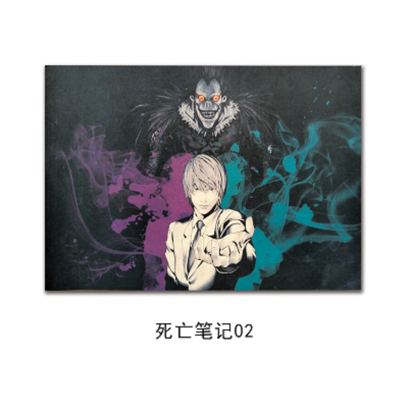 WXH,Japanese Cartoon Comic/ Death Note B/ kraft paper/Wall stickers/bar poster/Retro Poster/decorative painting 51×35.5cm