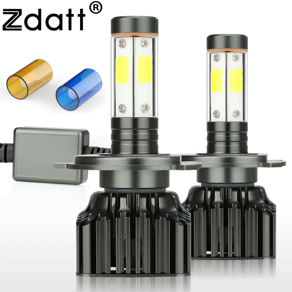 Zdatt <font><b>H4</b></font> <font><b>Led</b></font> <font><b>Headlights</b></font> 9003 HB2 Running lights Lamp <font><b>100W</b></font> 12000LM 3000K 6000K 8000K <font><b>H4</b></font> <font><b>LED</b></font> Fog lights Automobiles Motorcycle image