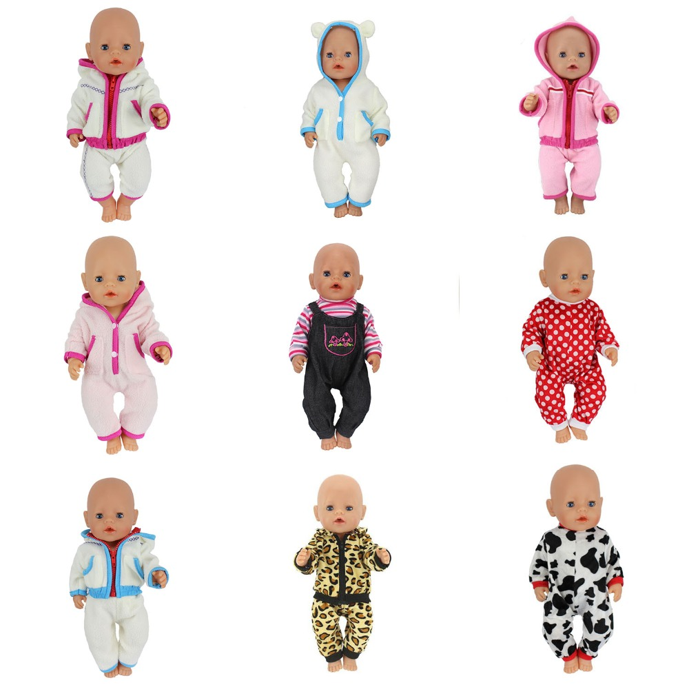 10Style Choose Warm Doll clothes Wear fit 43cm Baby Born zapf,Children best Birthday Gift(only sell clothes) цены онлайн