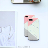 2017 New Arrival Hot Glossy Granite Marble Phone Case For IPhone 6s 6 6Plus 6splus Hard
