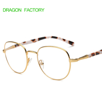 New Style Metal Glasses Frame For Female Retro Trend And Flat Mirror Mans Glass DZ0122