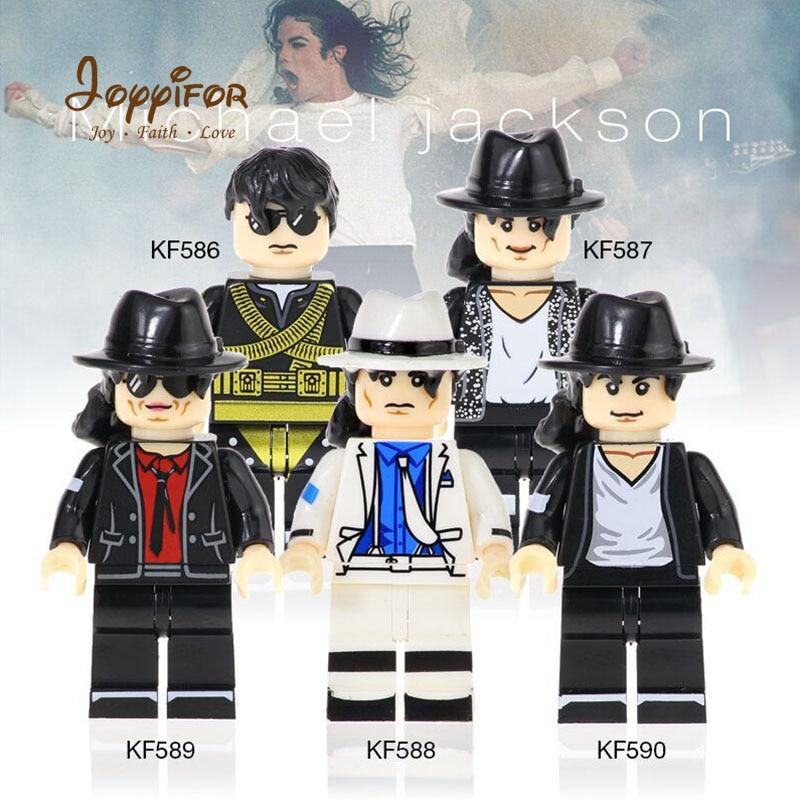 Joyyifor Hot Superstar Performer Dancer Michael Jackson Action Figure Building Blocks Bricks Toys For Children Friend