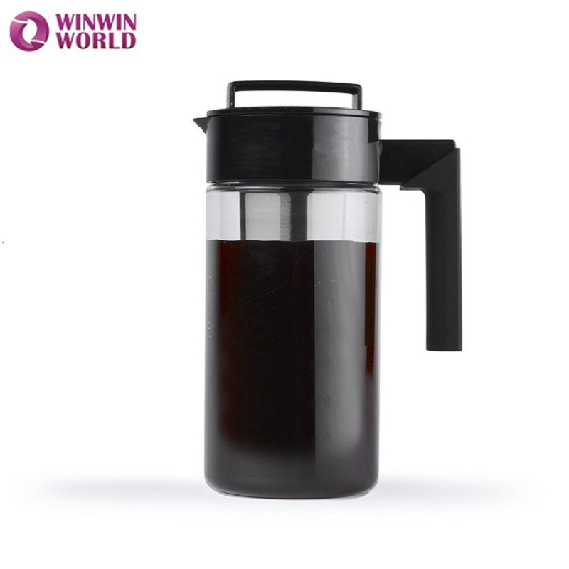 ᐂ900 ml cafetera negro para el hogar frío Brew cafetera Triran ...