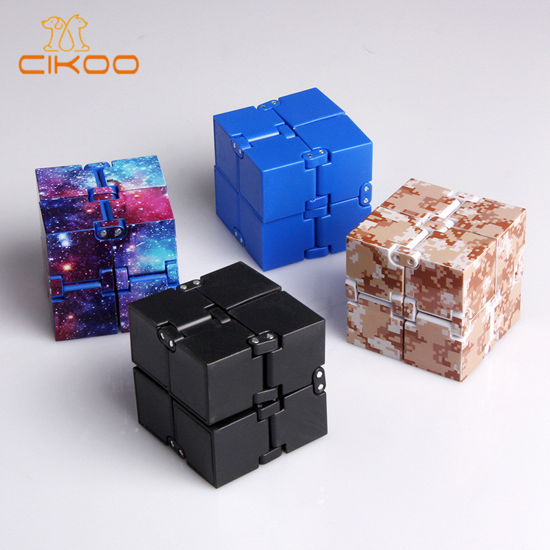 Infinity Cube Mini Fidget Toy Finger EDC Anxiety Stress Relief Magic Cube Blocks Children Kids Funny Toys Best Birthday Gift 32pcs lot dhl free shipping high quality fidget toys edc hand spinner for autism and adhd anxiety stress relief toys