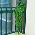 8.2 pés Verde Deixar As Plantas Artificiais Ivy Vine Falso Folhagem Flores Casa
