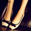 LIN REY Dulce Bowtie Mujeres Zapatos Planos Ocasionales Resbalón-en Baja Top Zapatos de Un Solo Dedo Del Pie Cuadrado Del Bailarín de Ballet Zapatos de la Oficina Maduro vestido