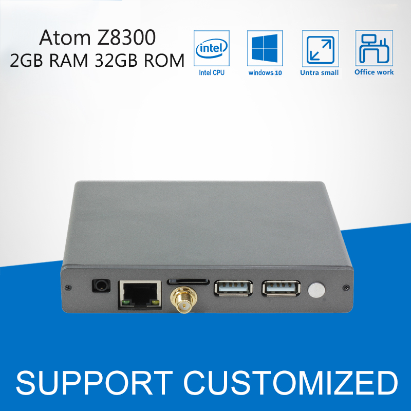 Mini PC Intel Cherry Trail Z8300 Processor Mini Computer Windows 10 Quad Core DDR3 2GB RAM 32GB ROM HDMI Bluetooth 4.0 WIFI fanless windows 10 mini pc desktop mele pcg09 2gb 32gb intel bay trail atom z3735f sata hdd m 2 ssd hdmi vga lan wifi bluetooth