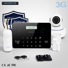 HOMSECUR Wireless LCD 3G/WCDMA RFID Burglar Intruder Alarm System+Wireless IP Camera  LC03-3G